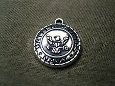 UNITED STATES NAVY Military Medallion antiqued silver charm