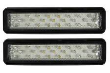 LED Clear Reverse Light x2 NEW 12/24v Water Proof Trailer Caravan Car