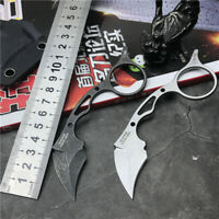 New CNC All Steel Handle 440C Blade Survival Hunting Karambitl Claw Knife C46