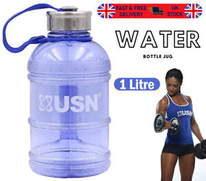 Gallon Water Bottle Jug Strong And Durable BPA Free Blue All Day Hydration 1L
