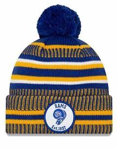 New Era Los Angeles Rams Youth Sport Cuff Knit Beanie Hat Cap - Blue