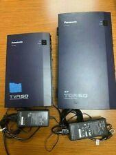 Panasonic KX-TDA50 Hybrid IP-PBX Phone & KX-TVA50 Voicemail Systems + 7 phones