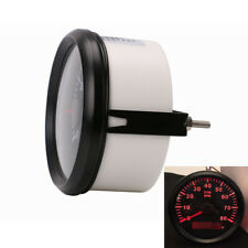 Red Backlight Car Marine Tachometer Gauge LCD Tacho Hour Meter 0-8000 RPM 85mm