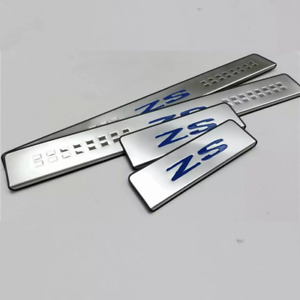 MG ZS  Sill Cover Protector Scuff Plates Guard Stainless Steel Blue Fit MG ZS EV