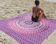 Indischer Wandteppich Mandala Überwurf Hippie Tagesdecke Gypsy Einzelbett Decke