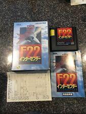 F22 Interceptor Sega Mega Drive Genesis Japan import Tested In Box With Manuel