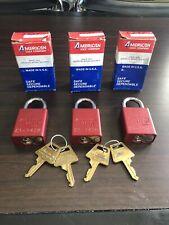 Lot Of 3 American Lock Padlocks Series 1105 Padlocks With Original Box