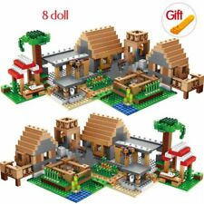 838PCS MINECRAFT My World Village House Farm Cottage Compatible Building Blocks