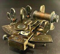 Vintage Maritime Brass Nautical Sextant Kelvin Hughes London F5
