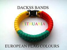 Lithuania National Flag  Paracord Wristband Bracelets European Union World Cup