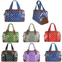 Ladies Large Oversize Maternity Weekend Overnight Luggage Polka Dot Hand Bag