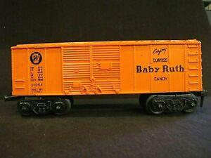 Vintage postwar O Scale Lionel X-1004 Baby Ruth Box Car