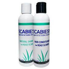 Anti SCABIES Medicated Shampoo & Conditioner to KILL Scabies, TREAT Itchy Scalp