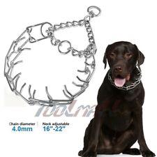 New Metal Steel Adjustable Dog Training Prong Pinch Choke Chain Spike Collar