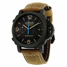 Panerai PAM00580 LUMINOR Chrono Flyback Ceramica Watch - Black/Beige