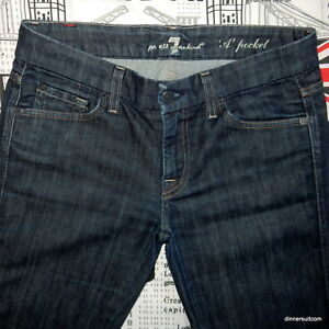 womens Size 29 / Seven 7 For All Mankind 'A Pocket' Flared Stretch Jeans Crystal
