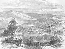 HERZEGOVINA. Metokhia, Gatschko, Montenegrin Army, antique print, 1876