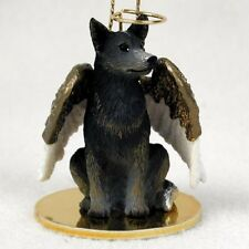 Australian Cattle Dog Angel Ornament Hand Painted Figurine Christmas blue heeler