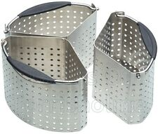 Masterclass 3 Section Perforated Vegetable Cooking Baskets Saucepan Dividers