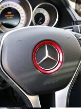 RED - Mercedes Benz Aluminium Steering Wheel Surround Trim - A C E GLA GLE