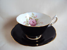 VINTAGE COLLINGWOODS ENGLAND POTTERY SAUCER AND CUP SET ROSE