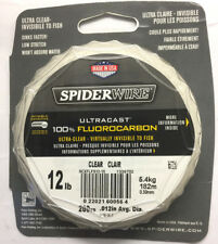 Spiderwire Ultracast 100% Fluorocarbon 12lb Clear 200yd spools x 4 Bulk Purchase