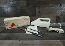 Regal Electric Knife K382Wt Usa Serrated Stainless Steel Open Box-Tested