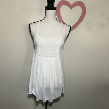 American Eagle White Tank Top Eyelet Medium