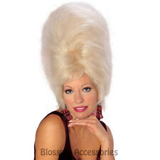 W296 Beehive Blonde Wig Adult Womens Victorian Colonial 60s Party Costume