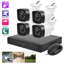 4pcs Kit d'caméra de sécurité 1080P IP67 Système surveillance IR intelligent