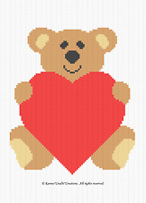 BEAR LOVE Crochet Baby Afghan Graph Pattern *BEGINNER*