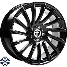 "4x Tomason TN16 8x18"" 5x100 ET35 ML63,4 black painted Audi Seat Skoda VW"