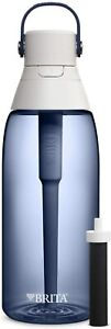 BRITA 36465 HARD SIDED PREMIUM FILTERING WATER BOTTLE NIGHT SKY 36OZ WITH FILTER