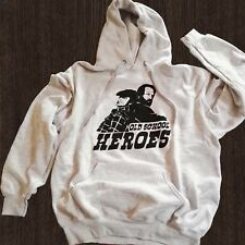 Felpa Bud Spencer Terence Hill Old school heroes hoodie movie Bomber grigia