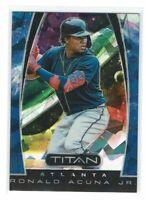 Ronald Acuna Jr. 2019 Panini Titan Blue Cracked Ice #08/99 Atlanta Braves