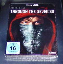 METALLICA THROUGH THE NEVER 3D LIMITIERTE STEELBOOK EDITION 3D + 2D BLU RAY NEU