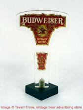 "1970s Budweiser Beer ""King Of Beers"" 6½ inch Acrylic Tap Handle TavernTrove"