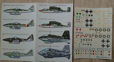 1/72 Esci - Decal Me-262, Me-163, He. 162