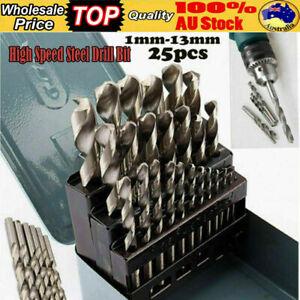 Heavy Duty 1-13mm Metal Storage Case High Speed Steel  Drill Bit Set  Metal Case