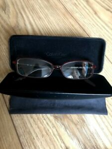 calvin klein collection glasses black & red unused