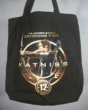 The Hunger Games KATNISS with Bow & Arrow Mockingjay Black Tote Bag NWOT