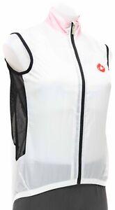 Castelli Velo Cycling Wind Vest Women SMALL White Road Bike Gravel Lightweight