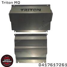 Triton MQ 2015 - 2017 - 2 piece 3mm Mild Steel Bash Plate Set - Aussie Made