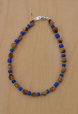 Blue/Lime Green Navajo Ghost/Cedar Beads Bracelet. Juniper Berry by L. Bitsoie