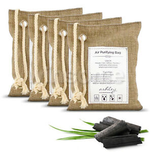 Naturally Activated Bamboo Charcoal Air Purifying Freshener Odor Eliminator Bags