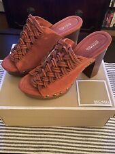 Michael Kors Shoes Westley Mule Suede Cinnamon Color New in Box Size 8
