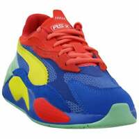 Puma RS-X³ Puzzle Lace Up Sneakers (Little Kids)  Casual   Sneakers Blue Boys -