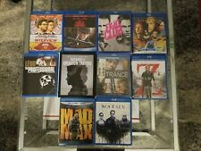 10x Blu-Ray Lot Mad Max, The Fifth Element, Fight Club, Leon: The Professional