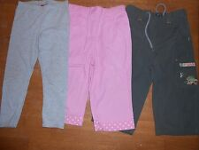 Girls capris, leggings size 5, lot of 3, Pooh, Pink, olive green, gray #883