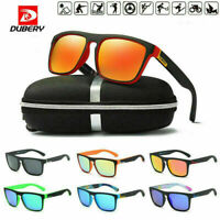 DUBERY Polarized Sunglasses Womens Mens Square Cycling Sports Driving Fishing